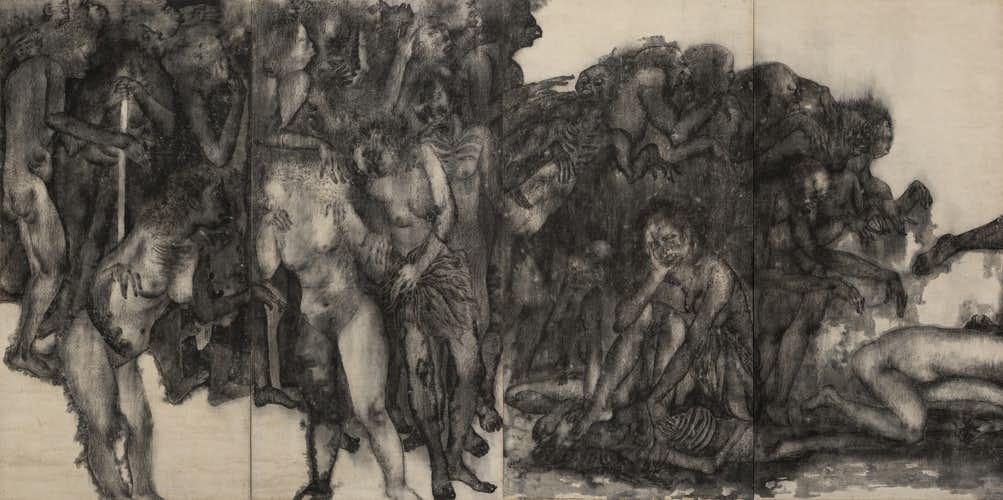 原爆を語り継ぐ絵画。広島市現代美術館で「丸木位里・俊《原爆の図》を ...
